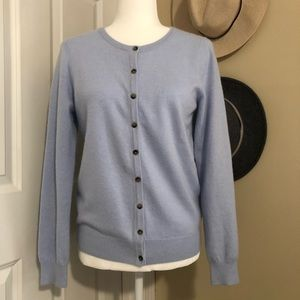 Boden Cashmere Cardigan in Light Blue